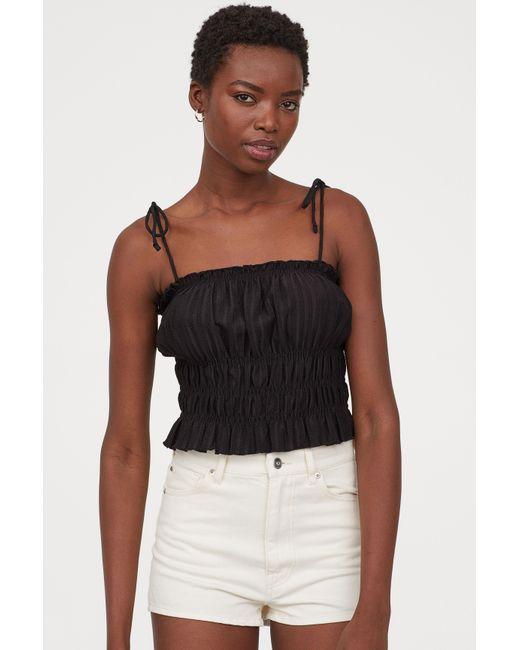 H&M White Denim Shorts High Waist