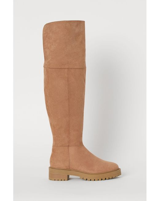 H&M Natural Knee-high Boots