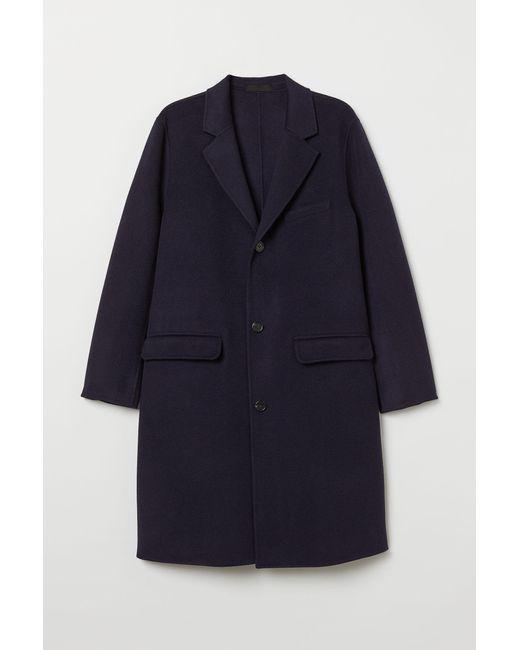 Manteau en cachemire mélangé H&M pour homme en coloris Blue