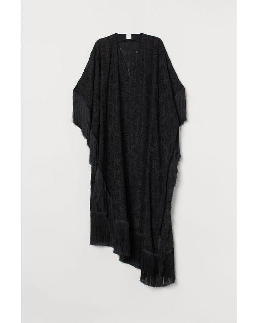 Caftan à franges H&M en coloris Black