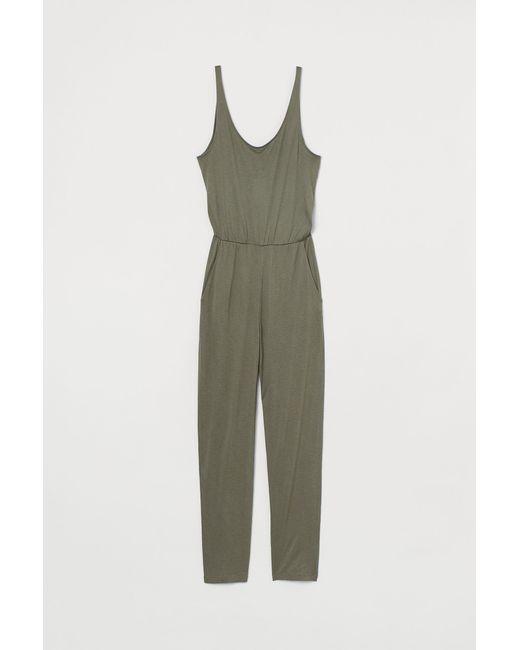 H&M Green Jumpsuit mit Trägern