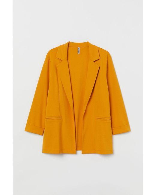 H&M Yellow H & M+ Jersey Jacket