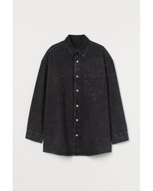 H&M Black Oversized Shirt
