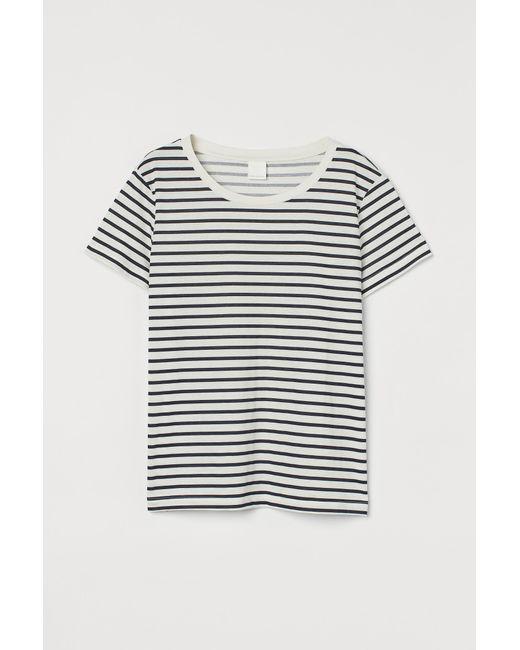 H&M White T-Shirt aus Baumwolle