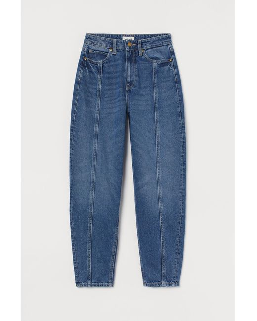 H&M Blue Loose Fit Mom Jeans