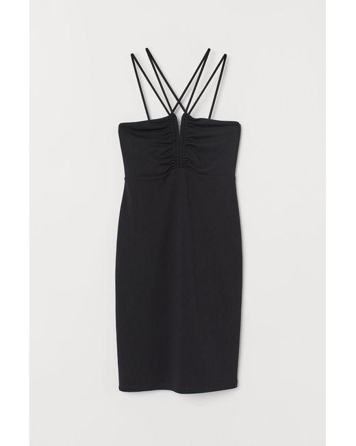 Robe moulante H&M en coloris Black