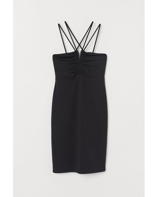Robe moulante H&M en coloris Black