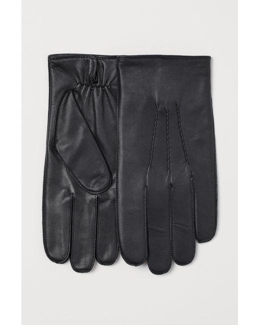 Gants en cuir H&M pour homme en coloris Black