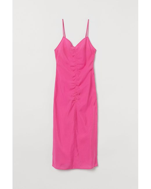 H&M Pink Lyocell-blend Dress