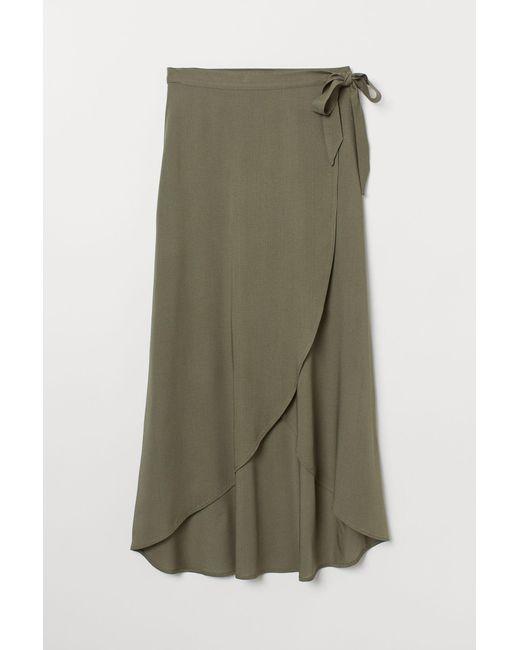 H&M Green Wrapover Skirt