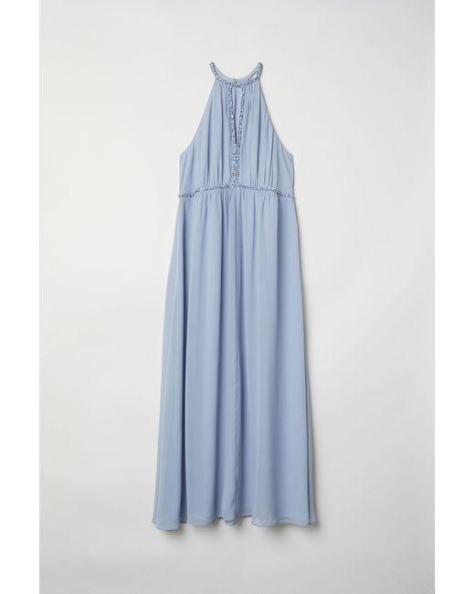 H & M+ Robe longue H&M en coloris Blue