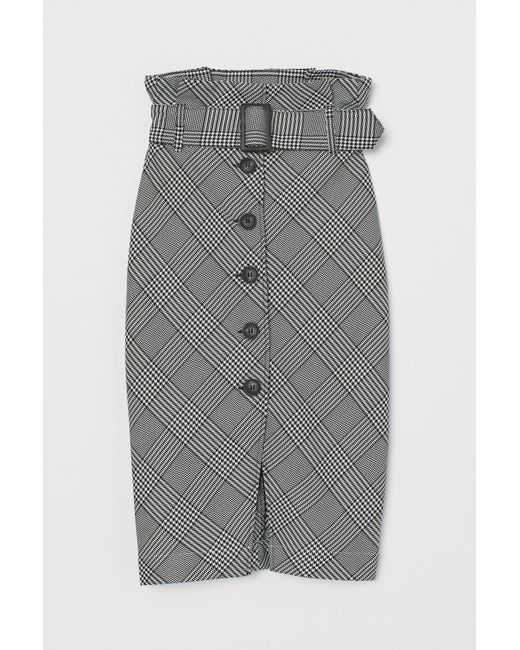 H&M Black Paper Bag Skirt