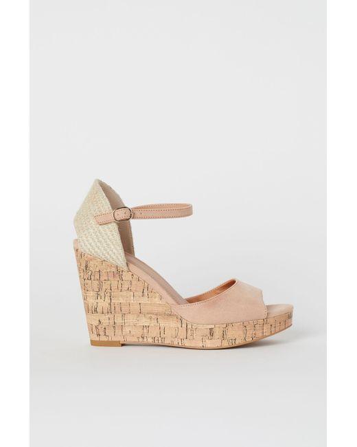 H&M Orange Sandaletten mit Keilabsatz