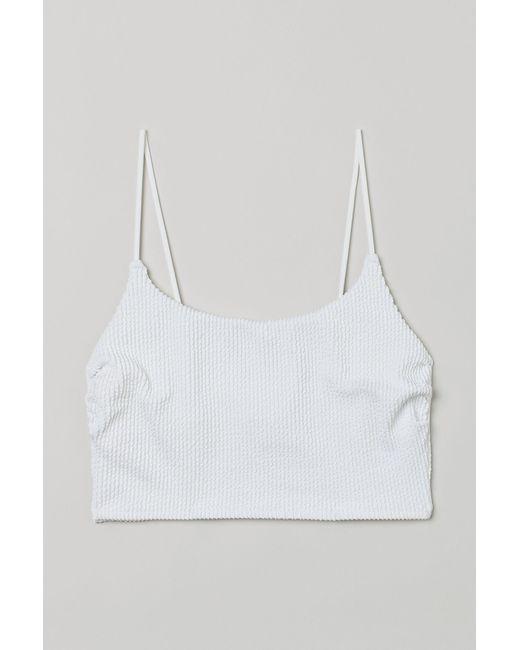 H&M White Langes Bikinitop
