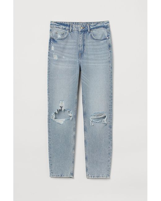 H&M Blue Skinny High Ankle Jeans