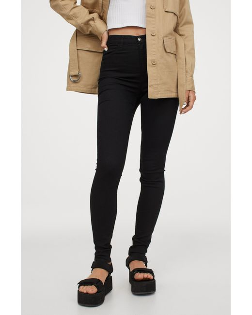 H&M Black Super Skinny High Jeans