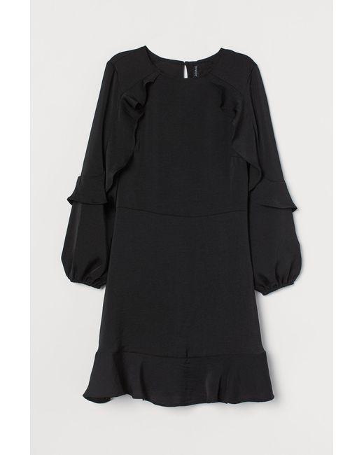 H&M Black Kleid mit Volants