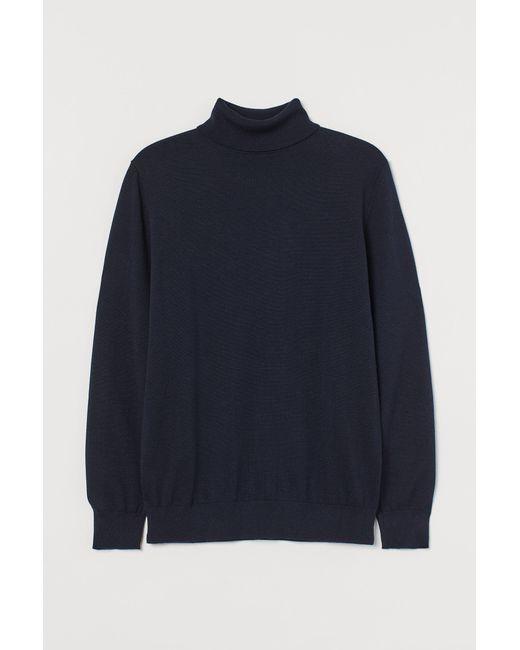 H&M Feinstrick-Rollkragenpullover in Blue für Herren