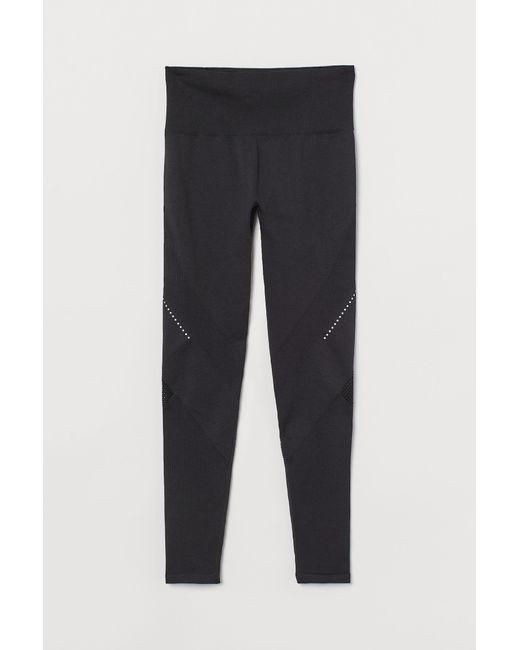 H&M Black Lauftights Seamless