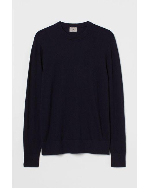 H&M Pullover aus Kaschmirmix in Blue für Herren