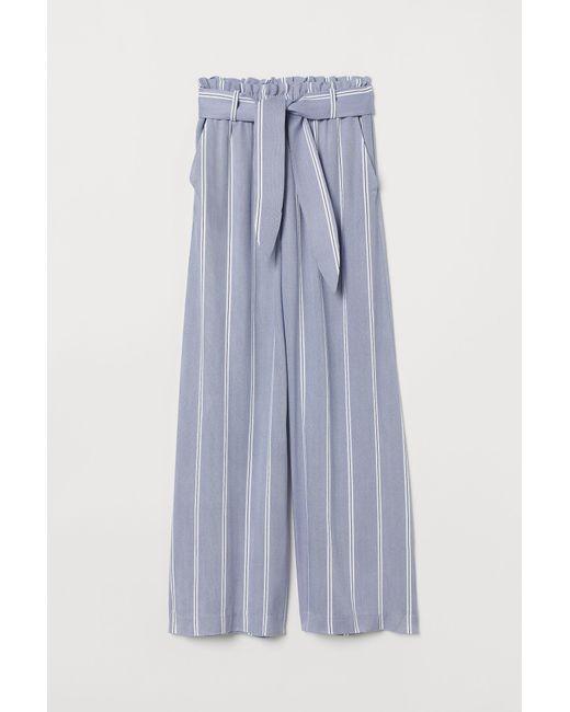 H&M Blue Weite Hose