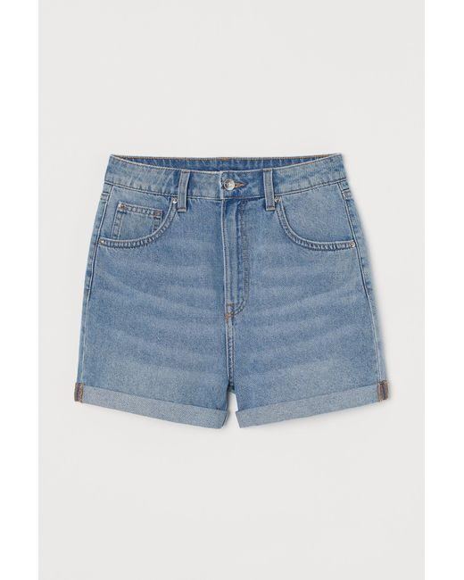 H&M Blue Jeansshorts Mom Fit