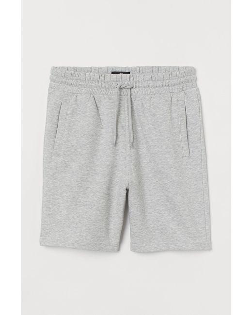 H&M Gray Regular Fit Sweatshirt Shorts for men
