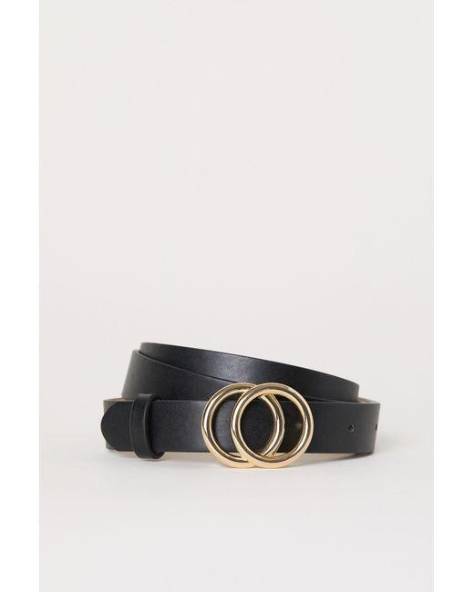 H&M Black Narrow Belt