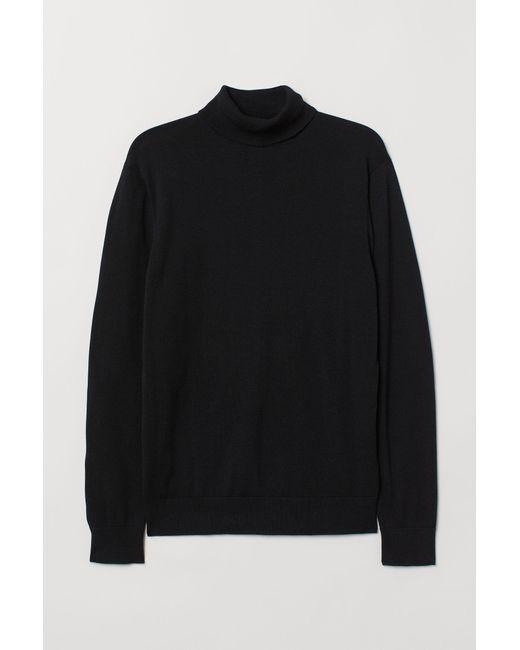 Pull en coton premium H&M pour homme en coloris Black
