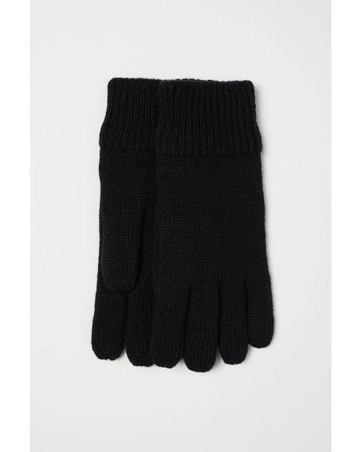 Gants en laine mélangée H&M pour homme en coloris Black