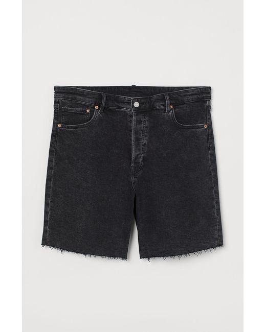 H&M Black H & M+ Bermuda Denim Shorts