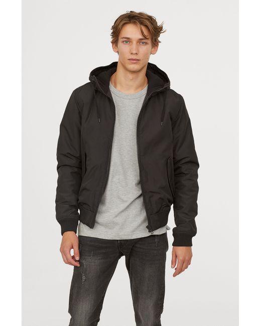 H&M - Black Padded Jacket for Men - Lyst
