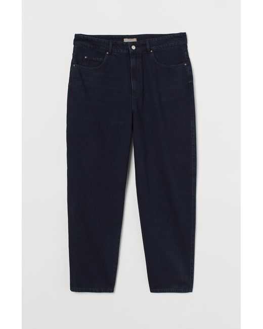 H&M Blue H & M+ Tapered High Jeans