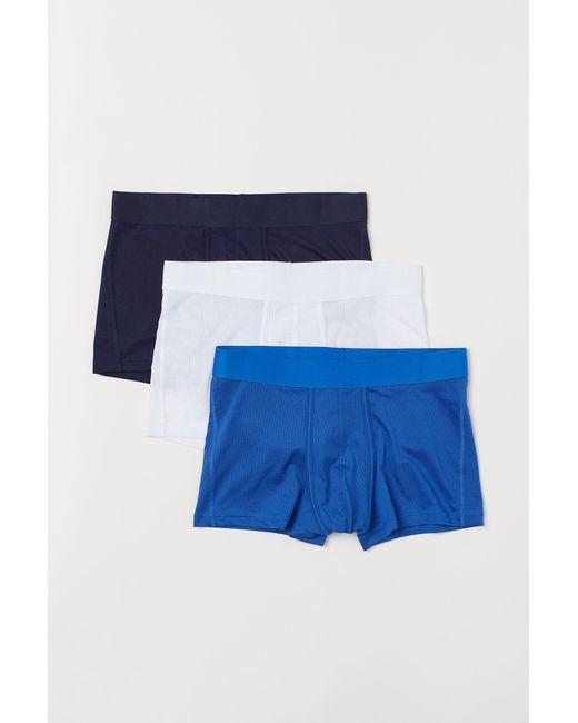 Boxers en mesh, lot de 3 H&M pour homme en coloris Blue