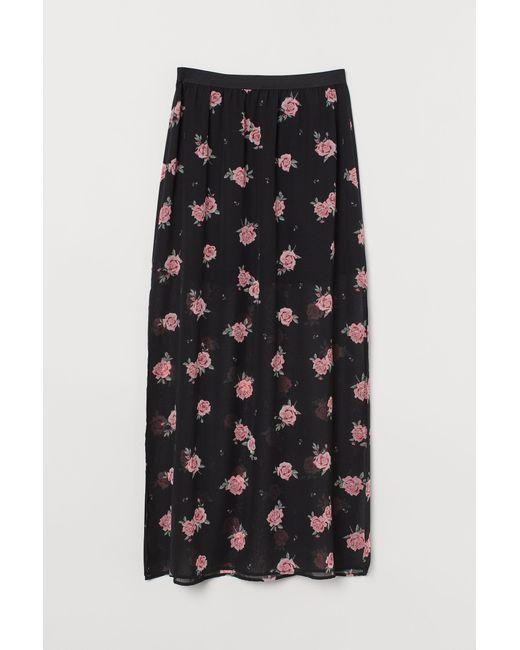 H&M Black Ankle-length Skirt