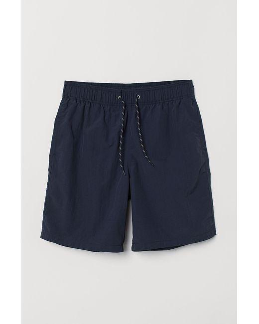 Short de bain long H&M pour homme en coloris Blue