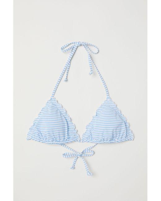 H&M Blue Triangle Bikini Top