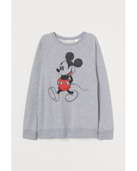 H&M Gray MAMA Sweatshirt in Baumwollmix