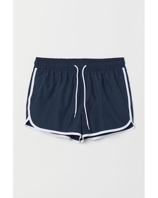 Short de bain court H&M pour homme en coloris Blue