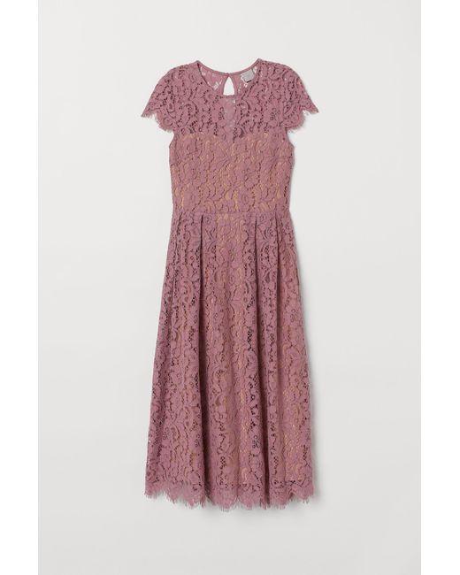 Robe de longueur mi-mollet H&M en coloris Pink