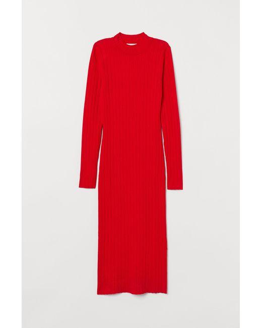 Robe en maille fine H&M en coloris Red