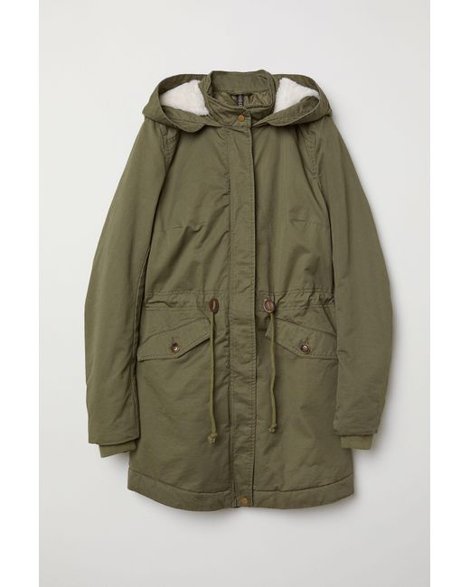 best sneakers f2a69 38d55 Women's Green Padded Parka With Hood