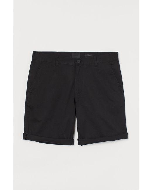 Short chino Slim Fit H&M pour homme en coloris Black