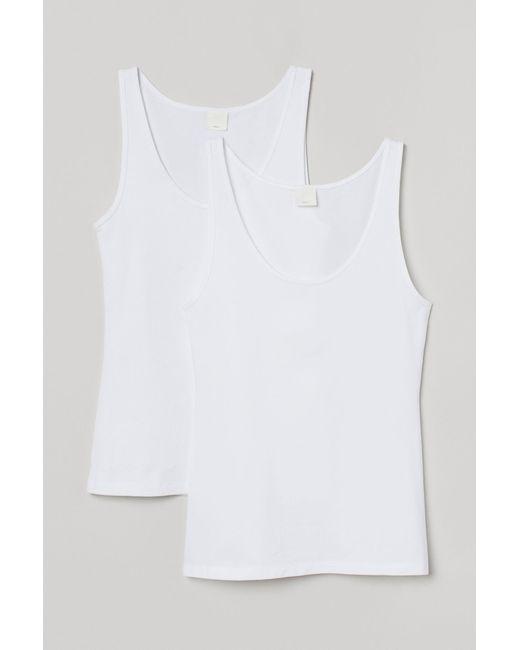 Lot de 2 débardeurs H&M en coloris White
