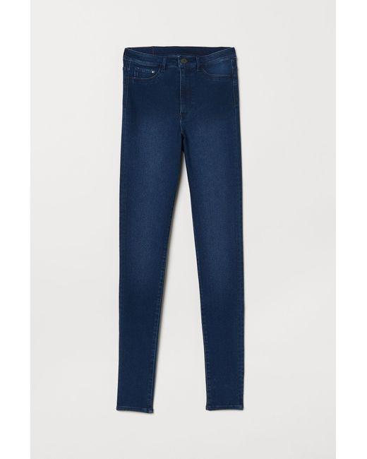 H&M Blue Super Skinny High Jeggings