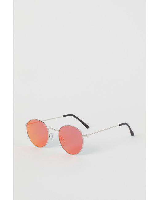 H&M Orange Round Sunglasses for men