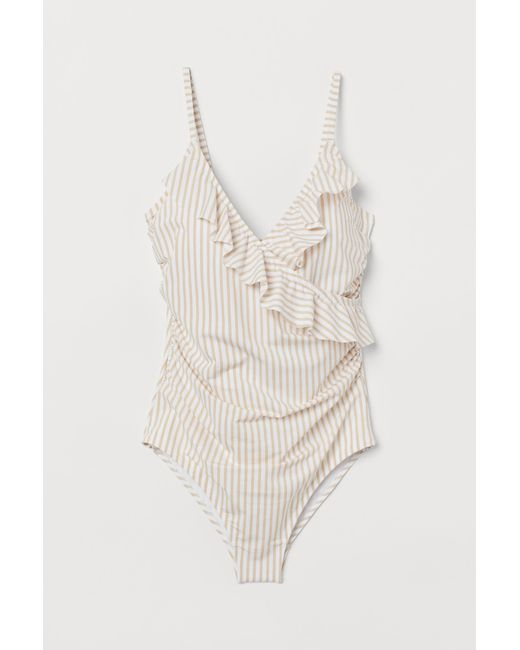 H&M White Shaping Swimsuit