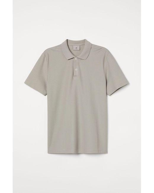H&M Poloshirt aus Premium Cotton in Brown für Herren