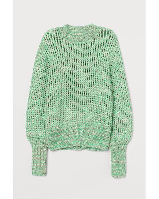 H&M Green Pullover aus Schwerstrick