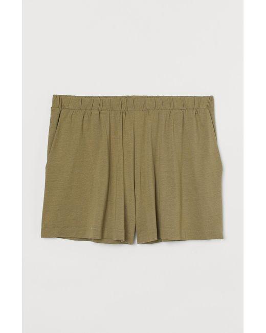 H&M Green H & M+ Shorts aus Modalmischung